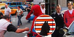 Hajar Pejalan Kaki, Spider-Man dan Batman Ditangkap Polisi