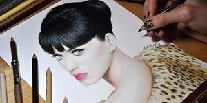 Lukisan Katy Perry Tampak Nyata!