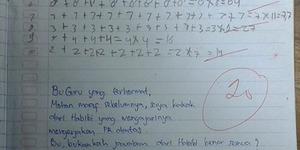 Nilai Benar tapi Rumus Salah, Kakak Siswa ini Protes Guru Matematika Beri Nilai Buruk