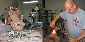 Seniman Israel Yaron Bob Ubah Bekas Roket Hamas jadi Mawar