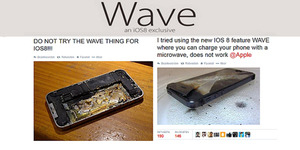Wave, Wireless Charging iOS 8 Hoax dan Bikin iPhone Meledak