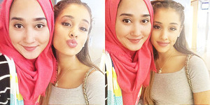 Foto Selfie Dian Pelangi Bareng Ariana Grande di Los Angeles