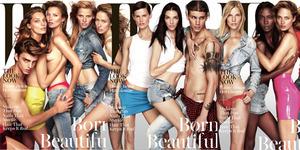 Foto Kate Moss Topless dengan 11 Model di W Magazine