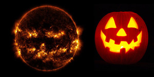 Foto: Seram, Matahari Mirip Jack O Lantern Sambut Halloween