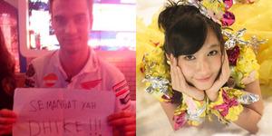 Foto Pedrosa Beri Semangat untuk Dhike JKT48