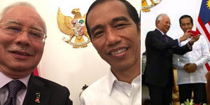 Foto Selfie PM Malaysia Najib Razak dan Presiden Jokowi