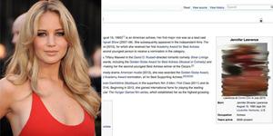 Foto Wikipedia Jennifer Lawrence Berubah Jadi Foto Bugil