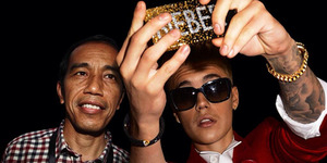 Heboh Foto Selfie Jokowi-Justin Bieber