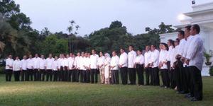 Inilah Daftar 34 Menteri di Kabinet Kerja Jokowi-JK