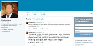 Menkominfo Rudiantara Buat Akun Twitter @Rudiantara_ID