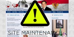 Pasca Pergantian Presiden, Situs Presidenri.go.id Down