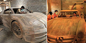Pengrajin Replika Kayu Mobil Ferrari dan Bugatti Veyron Asal Boyolali Jadi Sorotan Pecinta Otomotif
