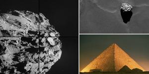 Satelit Rosetta Temukan Penampakan Piramid Mesir di Permukaan Komet