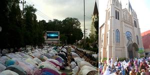 Permintaan Maaf Pimpinan Masjid Agung Malang kepada Gereja GPIB Immanuel Menuai Simpati