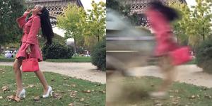 Video Parodi Syahrini 'Maju Mundur Cantik' Ketabrak Kereta di Paris