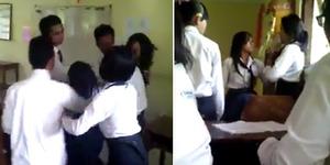 Video Tawuran Siswi SMK Jadi Sensasi di Internet