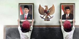BBM Naik, Pelajar Ogah Pasang Foto Jokowi-JK Di Kelas