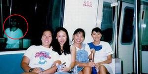 Heboh Foto Penampakan Hantu Gadis Cilik di Kereta Singapura