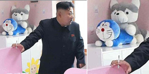 Foto Kim Jong Un dengan Boneka Doraemon 'Mesum' Jadi Lelucon Dunia Maya