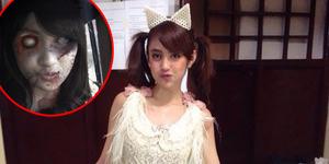 Foto Seram Nabilah JKT48 Berubah Jadi Zombie
