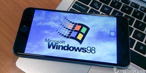 Hacker China Jalankan Windows 98 di iPhone 6