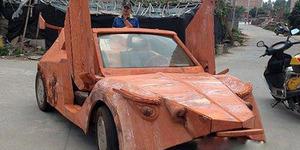 Mobil Lamborghini Berbahan Kayu Mahoni Ditawar Rp 427 Juta