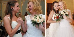 Pasangan Lesbian Unik, Pria Rusia jadi Wanita dan Nikahi Wanita