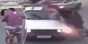 Video Sejoli Brasil Ciuman Usai Selamat Ditabrak Mobil