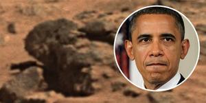 Ada Batu Mirip Wajah Obama di Mars