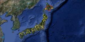 Lamaran Unik, Pria ini Keliling Jepang untuk Buat Gambar GPS 'Marry Me'