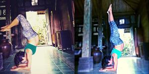 Foto: Hamil 9 Bulan, Widi Mulia Yoga Posisi Terbalik