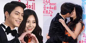 Foto Hong Jong Hyun-Yura Ciuman di MBC Entertainment Awards 2014