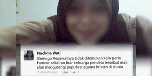 Heboh Akun FB Rachma Wati Sumpahi Korban AirAsia