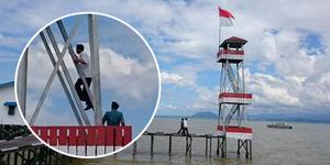 Presiden Jokowi Panjat Menara 30 Meter di Sebatik