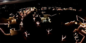 Drone Abadikan Keindahan 170.000 Lampu Natal