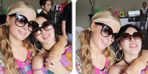 Kayak Pacaran, Paris Hilton Panggil Syahrini 'Sweety'
