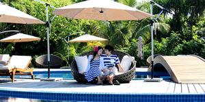 Foto Bulan Madu Sungmin Super Junior-Kim Sa Eun di Maldives