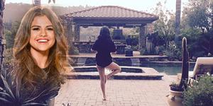 Foto Selena Gomez Pamer Bokong Seksi Saat Yoga