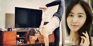 Foto Yuri SNSD Seksi & Lentur Saat Yoga