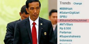 Kecewa Jokowi Ajukan Budi Gunawan, #ShameOnYouJokowi Mendunia