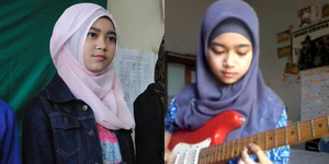 Meliani, Gadis Berhijab Jago Main Gitar Musik Metal