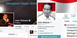 Netizen Tertipu, Akun Twitter dan FB Jokowi Ternyata Palsu