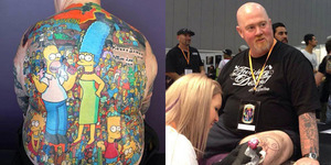 203 Tato Karakter The Simpsons Penuhi Punggung Pria Australia