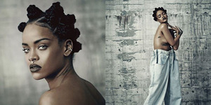 Promo FourFiveSeconds, Rihanna Topless di i-D Magazine