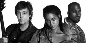 Rihanna Rilis FourFiveSeconds Duet Bareng Kanye West & Paul McCartney
