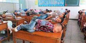 SD di Tiongkok Pungut Rp 2.000 per Siswa Tiap Tidur di Kelas