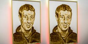 Seniman Katsu Lukis Mark Zuckerberg Pakai Tinja