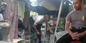 Bripda Taufik, Polisi Sederhana Tinggal Di Bekas Kandang Sapi