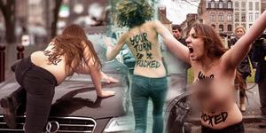 Foto Aktivis Femen Bugil Cegat Mantan Bos IMF