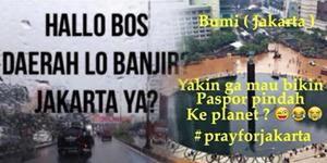 Foto: Meme Balasan Bekasi Bully Banjir Jakarta